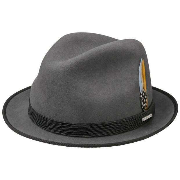 Stetson Player VitaFelt Wollfilz Hut anthrazit