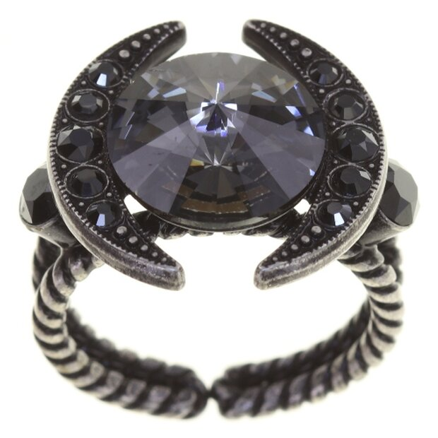 Konplott Ring Spikes schwarz gun metal